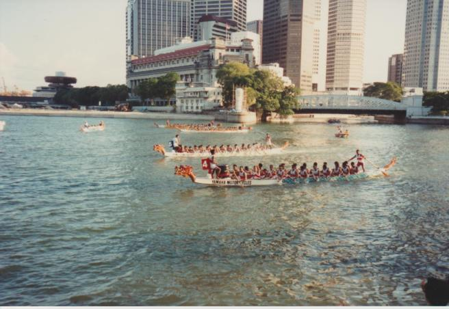 Dragon Boats Singapore Harbour 001